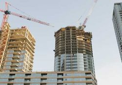A condominium in construction